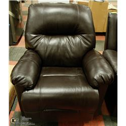 NEW BROWN LEATHERETTE ROCKING/RECLINING CHAIR