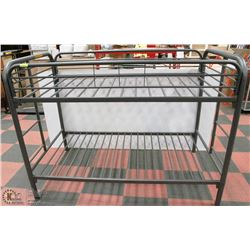 NEW SINGLE SIZE METAL BUNK BED (NEW IN BOX)