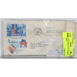 3 US PATRIOTIC FIRST DAY OF ISSUE ENVELOPES.