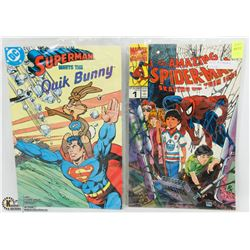 SPIDERMAN COMIC SOLD WITH SUPERMAN COMIC
