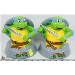 LOT OF TWO TEENAGE MUTANT NINJA TURTLES PIGGY
