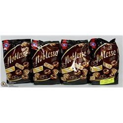 4 BAGS OF NOBLESSE NOIR 300G GERMAN COOKIES
