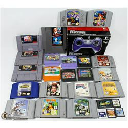 FLAT OF NINTENDO 64 WITH 11 GAMES INCL.