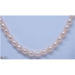 1) NATURAL FRESHWATER PEARL W/ CZ NECKLACE CLASP