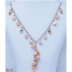 6) STERLING SILVER FRESHWATER PEARL NECKLACE