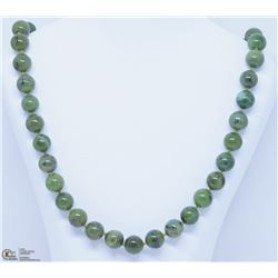 23) STERLING SILVER JADEITE NECKLACE