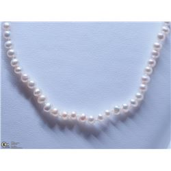 50) STERLING SILVER FRESHWATER PEARL NECKLACE