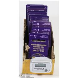 15 PACKS OF SIZE 13 HEARING AID BATTERIES -