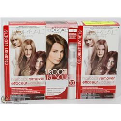 2 BOXES OF L'OREAL PARIS HAIR COLOR REMOVER & 1