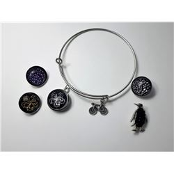 #6 - CHUNK STYLE BANGLE BRACELET WITH CHARMS