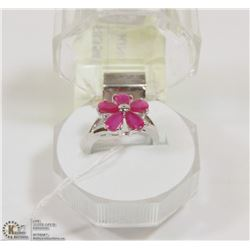 #114-RED RUBY RING