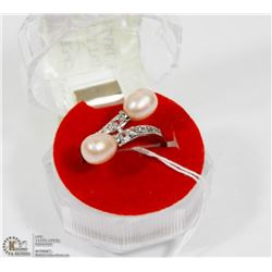 #75-NATURAL CULTURED  FRESHWATER PEARL RING