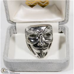 MAN'S HEAVY  STAINLESS STEEL RING BAND VENDETTA