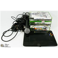 FLAT OF XBOX & XBOX 360 GAMES AND UDRAW GAME