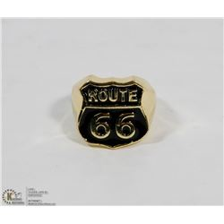 STAINLESS STEEL RING MENS ROUTE 66