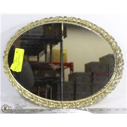 OVAL PERFUME/ MIRRORED SERVING TRAY