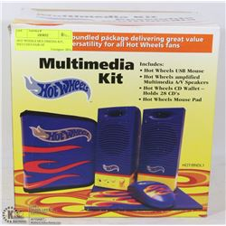 HOT WHEELS MULTIMEDIA KIT, INCLUDES PAIR OF