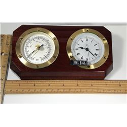 #7 -  NEW IN BOX WALL MOUNT CLOCK & BAROMETER