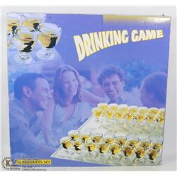 GLASS CHESS SET DRINKING GAME