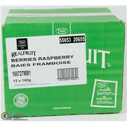 CASE OF 12- 160G BAGS OF REAL FRUIT BERRIES-