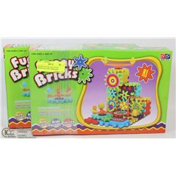 BUNDLE OF TWO 81PC FUNNY BRICKS BATTERY OPERATED