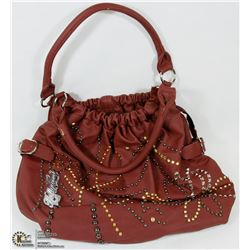 WOMENS BROWN HOLLYWOOD PURSE