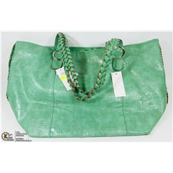 GREEN TOTE STYLE PURSE/LAPTOP CASE
