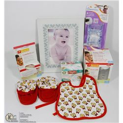 FLAT OF NEW ASSORTED BABY ITEMS