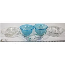 1 SET DECORATIVE SERVING DISHES