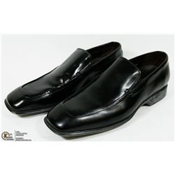NEW DIRK BLACK POLISHED CALF LEATHER SHOES