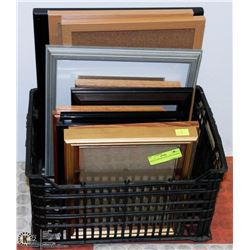 BOX OF ASSORTED PICTURE FRAMES