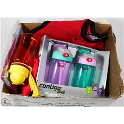 LOT OF NEW KIDS/PARENT ITEMS INCL SIPPY CUPS,