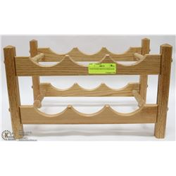SOLID WOOD 6 BOTTLE WINE RACK