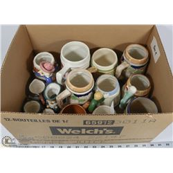 4) ASSORTMENT OF BEER STEINS IN VARIOUS SIZES