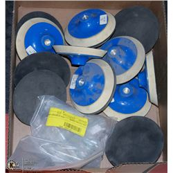 "FLAT OF 6"" SANDING DISC ATTACHMENTS"