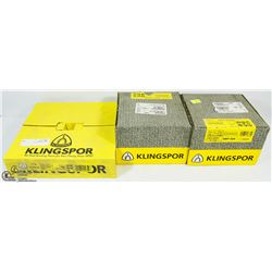 3 BOXES OF ASSORTED KLINGSPOR SANDING DISCS