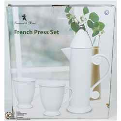 NEW FRENCH PRESS SET - WHITE