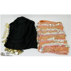 2 NEW BELLY DANCING JINGLE WRAPS/SKIRTS