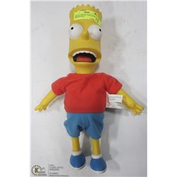"2000 PLAYMATES TOYS 15"" H BART SIMPSON DOLL,"