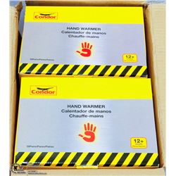CASE OF 200 DISPOSABLE HAND WARMERS