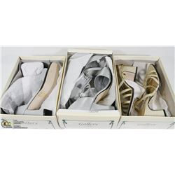 LOT OF 3 WOMENS DRESS SHOES SIZES 7,7,9