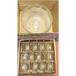 5) PUNCH BOWL SET WITH CUPS.
