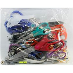 BAG OF ASSORTED SCISSORS