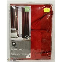 "HOMETRENDS RED ROD POCKET PANEL 52""X84"""