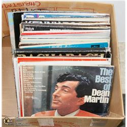 BOX OF OVER 50 RECORDS INCLUDING DEAN MARTIN