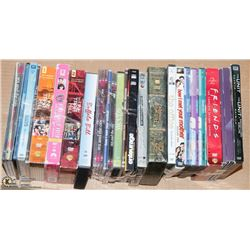 BOX WITH ASSORTED SEASONS DVD'S INCL FRIENDS,