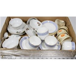 FLAT FILLED WITH VARIOUS TEACUP AND SAUCER SETS