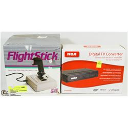 RCA DIGITAL TV CONVERTER SOLD WITH FLIGHT STICK