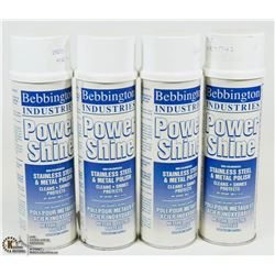 LOT OF 4 BEBBINGTON INDUSTRIES POWER SHINE