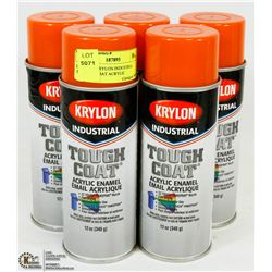 LOT OF 5 KRYLON INDUSTRIAL TOUGH VCOAT ACRYLIC
